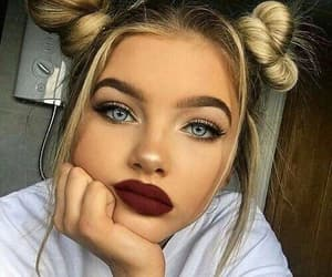 blue eyes, grunge, and hairstyle image