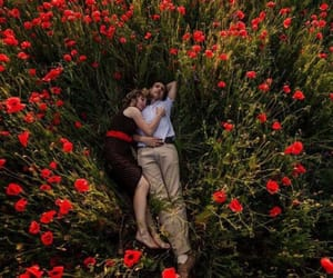 couple, field, and I Love You image
