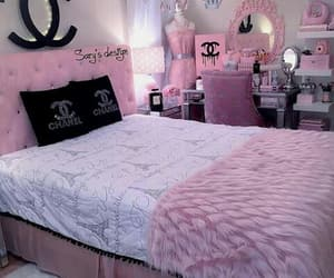 bedroom, room, and chanel image