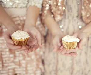 cupcakes, glitter, and fashion image
