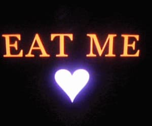 eat me, eat, and gif image