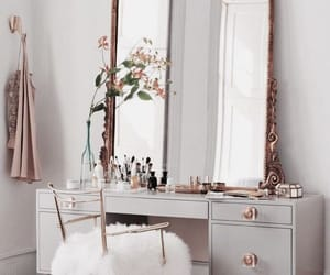 chair, decorate, and makeup image