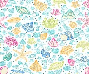 algae, starfish, and background image