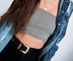 denim, gold, and style image