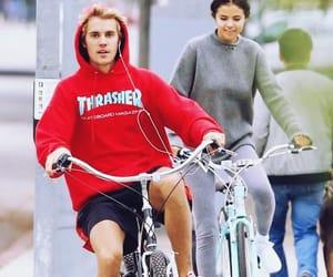 bike, justin, and jelena image