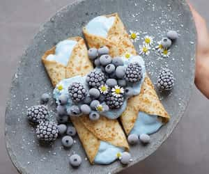 blue, fruit, and blueberries image