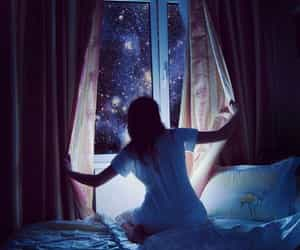 dreaming, night, and sky image