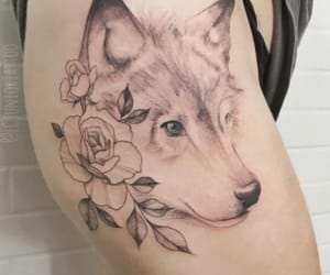 tattoo, wolf, and perfect image
