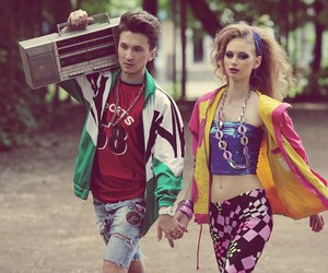 80s, beauty, and boombox image