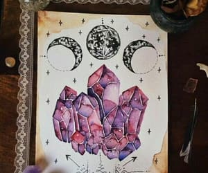 crystals, pink, and drawing image