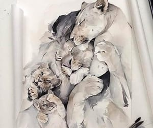 animal, watercolor, and cute image