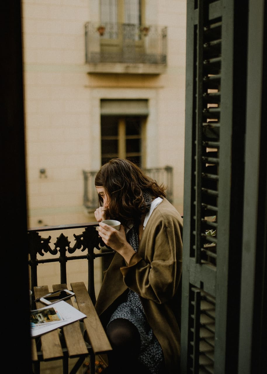 coffee, girl, and vintage image