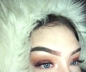 blue eyes, winter, and brows image
