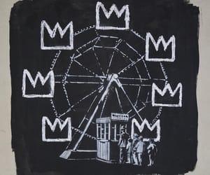 b&w and basquiat art image