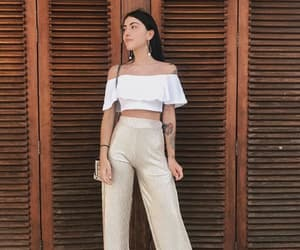 br, brunette, and outfit image
