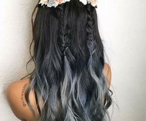 grey, hair, and cabello image