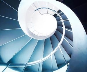 blue, stairs, and spiral image