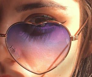 fashion, girl, and glass image