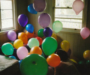 balloons, colors, and vintage image