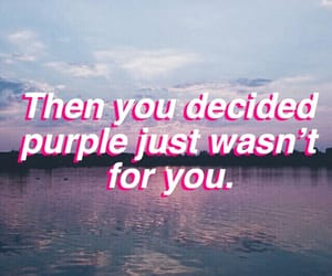 broken, lilac, and quote image