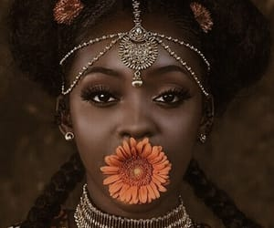 flower, melanin, and black girl magic image