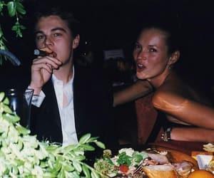 kate moss, leonardo dicaprio, and 90s image