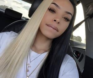 black, blonde, and makeup image