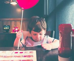 baby, food, and balloon image