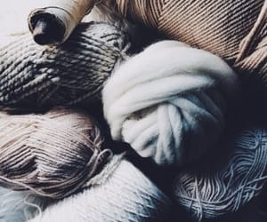 blue, knitting, and rustic image