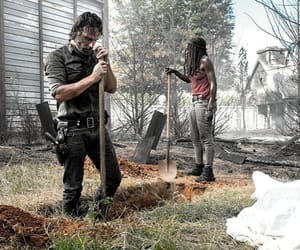 rick, twd, and michonne image