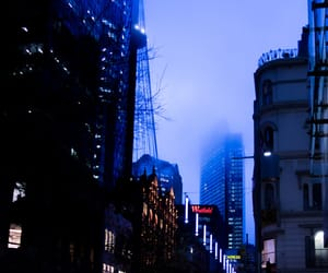 blue, city, and downtown image