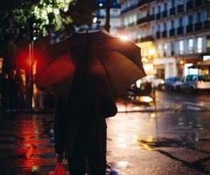 photography, street, and umbrella image