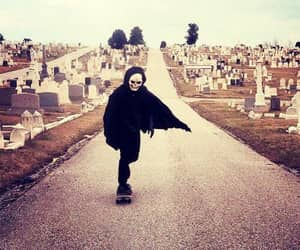 bones, cemetery, and death image