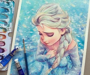 art, frozen, and blue image