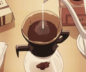 gif, coffee, and anime image