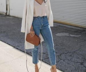bag, blazer, and jeans image
