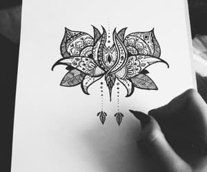 drawing, black and white, and draw image