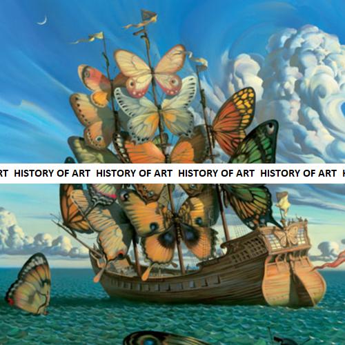 art, boat, and sea image