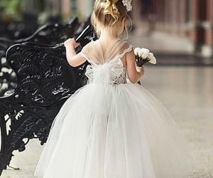 dress, baby, and white image