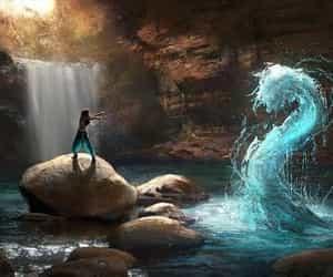 water, fantasy, and magic image