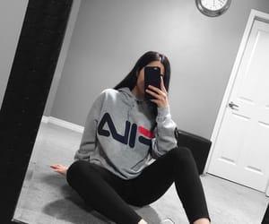 girl, Fila, and fashion image