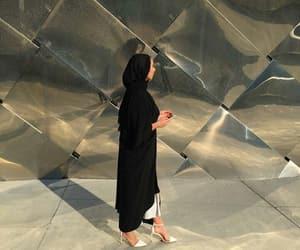 hijab, muslim, and woman image