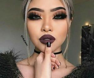 choker, lipstick, and nailpolish image