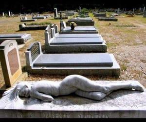 grave, funny, and gravestone image