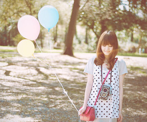 ballon, girl, and cute image