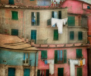 cinque terre, italy, and laundry image