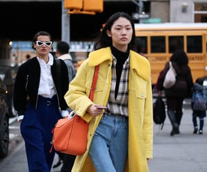 fashion week, model, and street style image