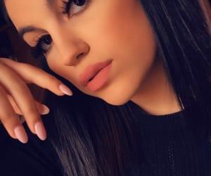 blackhair, girl, and makeup image