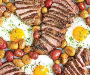 eggs, food, and potatoes image