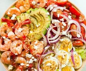 avocado, food, and tomato image